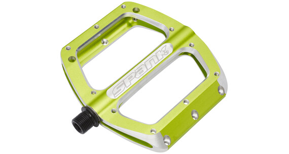 Spank Spoon Flat Pedals L emerald green